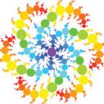 Colored spiral mandala